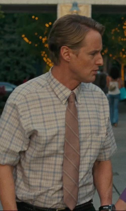 Owen Wilson with Ben Sherman Men's Short Sleeve Marl Tartan Check Woven Shirt in Hall Pass