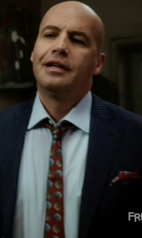 Billy Zane with Barneys New York Striped Two-Button Suit in Guilt