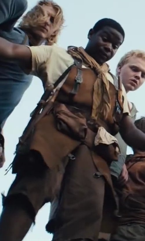 Dexter Darden with Christine Bieselin Clark and Simonetta Mariano (Costume Designers) Custom Made Leather Apron (Fry Pan) in The Maze Runner