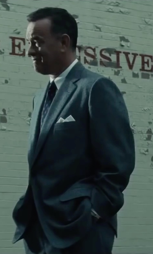 Tom Hanks with Ted Baker Slim Fit Two Piece Suit in Bridge of Spies