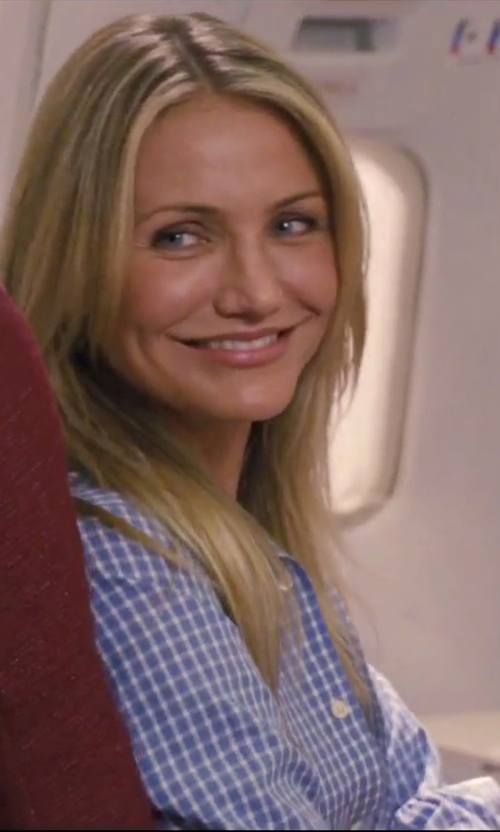 Cameron Diaz with Frank & Eileen Gingham Check Shirt in Knight and Day