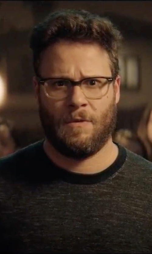 Seth Rogen with Ray-Ban RX5228 5043 Gradient Eyeglasses in Neighbors 2: Sorority Rising