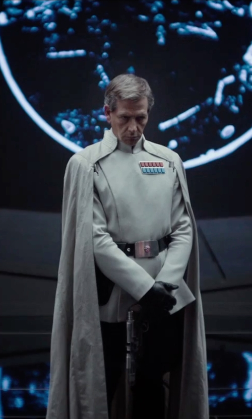 Ben Mendelsohn with David Crossman	and Glyn Dillon (Costume Designers) Custom Made Imperial Officer Costume in Rogue One: A Star Wars Story