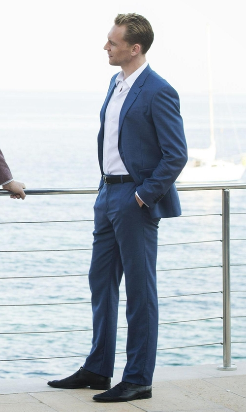 Tom Hiddleston with Florsheim Jacobi Bike Oxford Shoes in The Night Manager