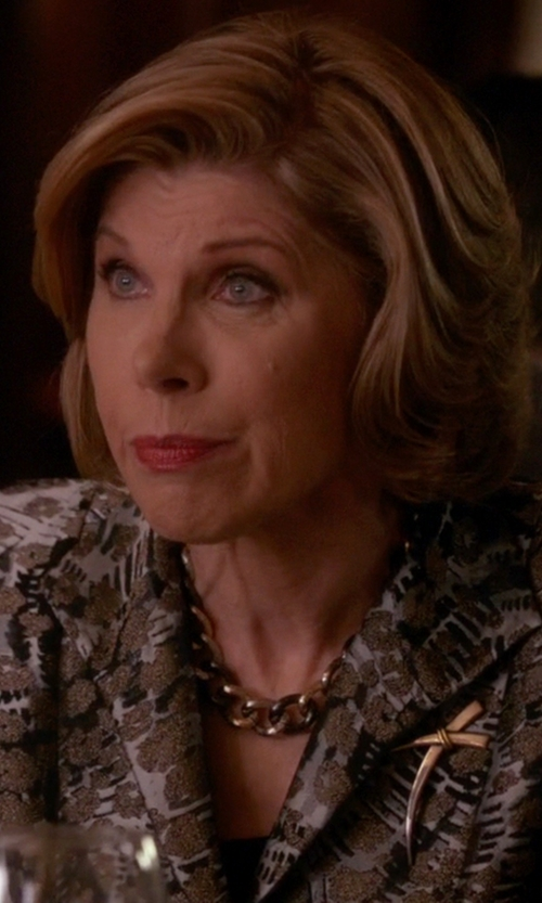 Christine Baranski with Vita Fede Franco Crystal Link Necklace in The Good Wife