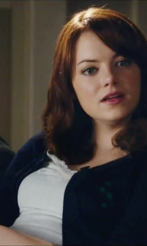 Emma Stone with H&M Divided Cardigan in Easy A
