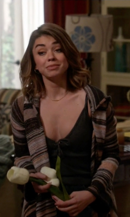 Sarah Hyland with Goddis Leona Hooded Sweater In Casablanca in Modern Family