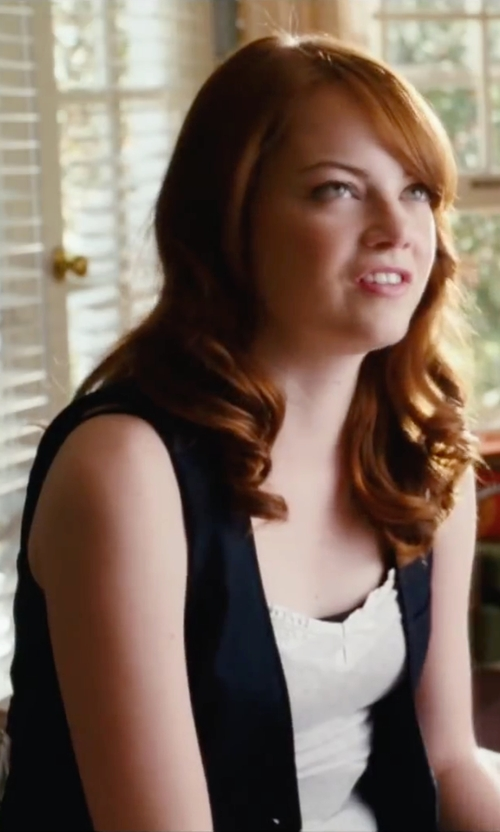 Emma Stone with Rag & Bone/jean Tank Top in Easy A
