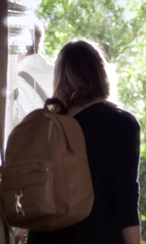 Troian Bellisario with Rebecca Minkoff Women's MAB Backpack in Pretty Little Liars