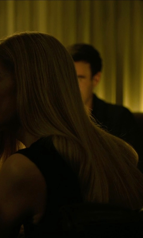 Rosamund Pike with Theory Betty Fitted Sleeveless Dress in Gone Girl