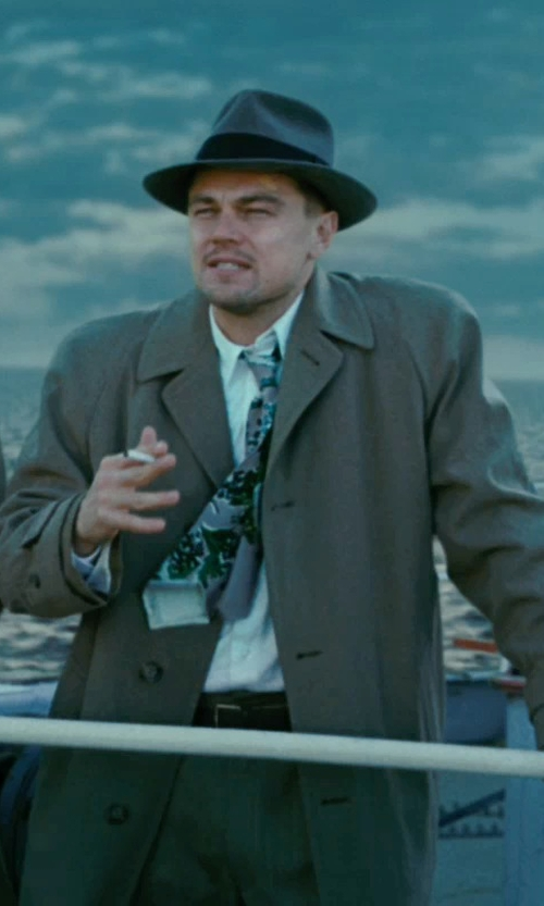 Leonardo DiCaprio with Rag & Bone Skinny Dress Belt in Shutter Island