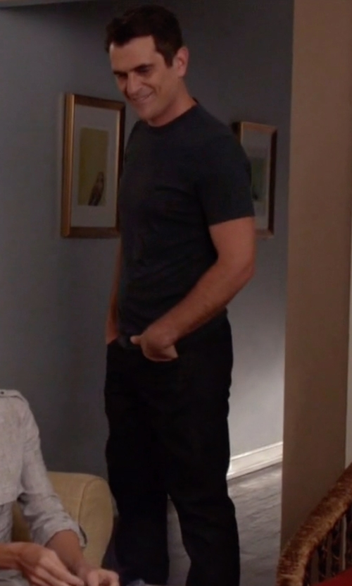 Ty Burrell with Frame L'homme Straight Leg Jeans in Modern Family