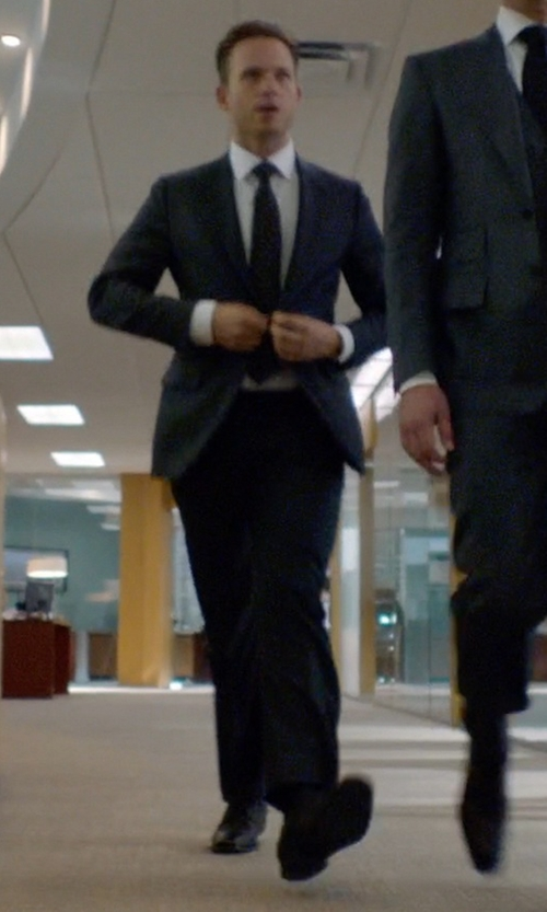 Patrick J. Adams with Church's Lancaster Oxford Shoes in Suits