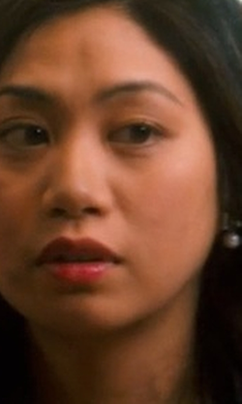 Liza Lapira with Kate Spade New York Faux Pearl and Crystal Drop Earrings in Crazy, Stupid, Love.