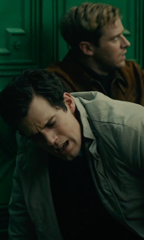 Henry Cavill with Isaia Ross Wool & Angora Overcoat in The Man from U.N.C.L.E.