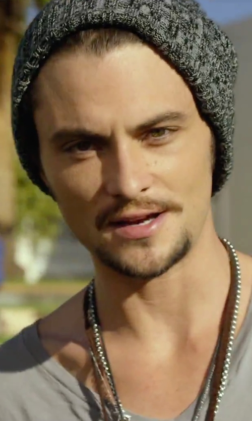 Shiloh Fernandez with King Baby Archetype Wing On Braided Cord Pendant Necklace in We Are Your Friends