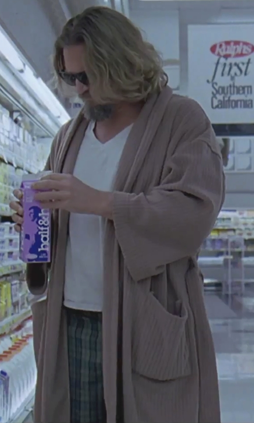 Jeff Bridges with Grayers Plaid Chino Shorts in The Big Lebowski