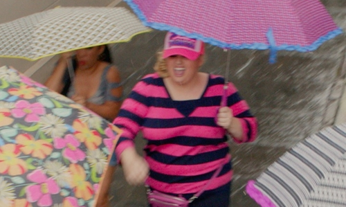 "Rebel Wilson with Custom Pink ""I Eat Danish"" Trucker Hat in Pitch Perfect 2"