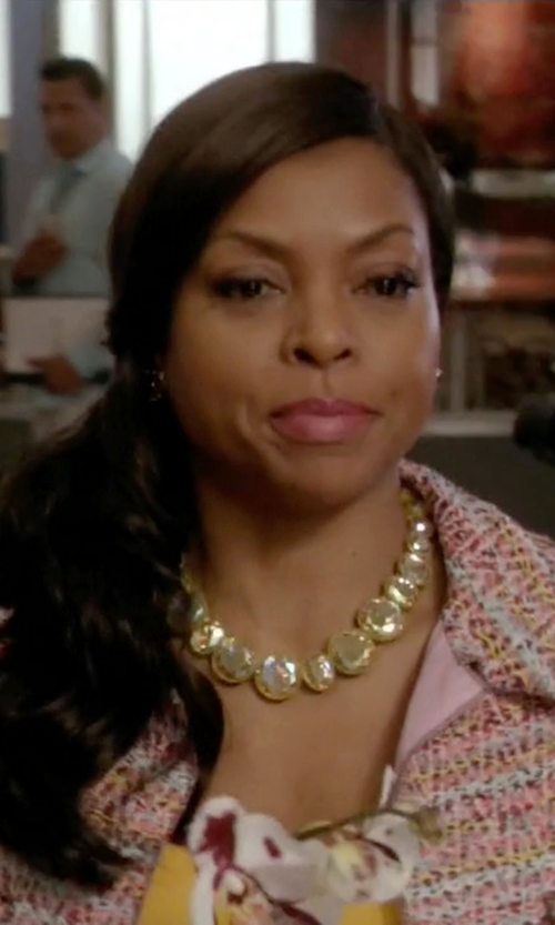 Taraji P. Henson with Marco Bicego Three-Station Collar Necklace in Empire