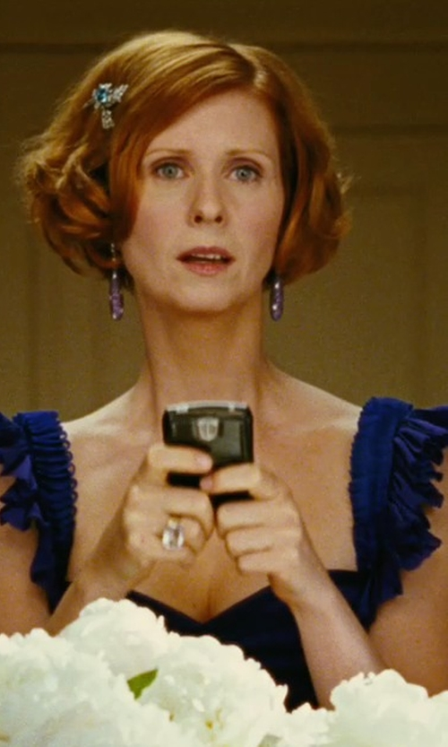 Cynthia Nixon with Bloomingdale's Oval Crystal Quartz & Champagne Diamond Ring in Sex and the City
