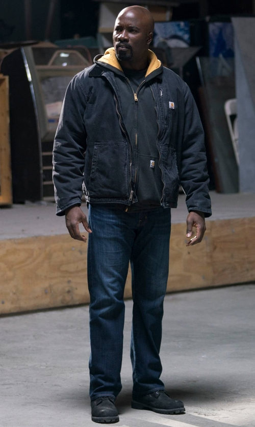 Mike Colter with Timberland Smooth Boots in Marvel's The Defenders