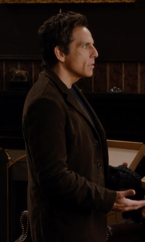 Ben Stiller with Durini Milano Lapel Collar Blazer in Night at the Museum: Secret of the Tomb