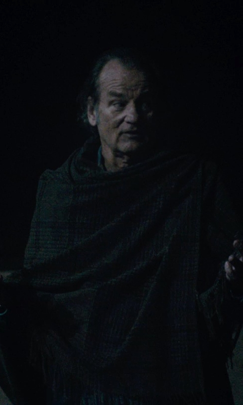 Bill Murray with Johnstons of Elgin Lamora Check Scarf in Rock The Kasbah