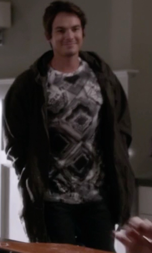 Tyler Blackburn with Macchia J. Denim Pants in Pretty Little Liars
