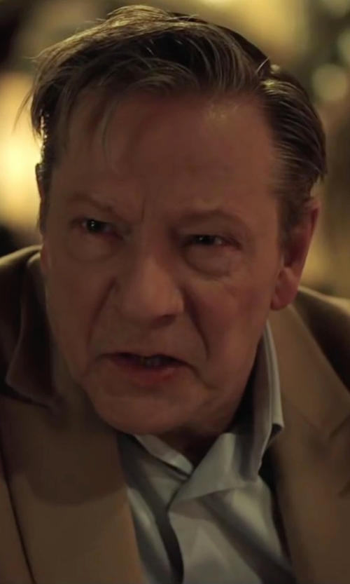 Chris Cooper with Uman End-On-End Dress Shirt in Demolition