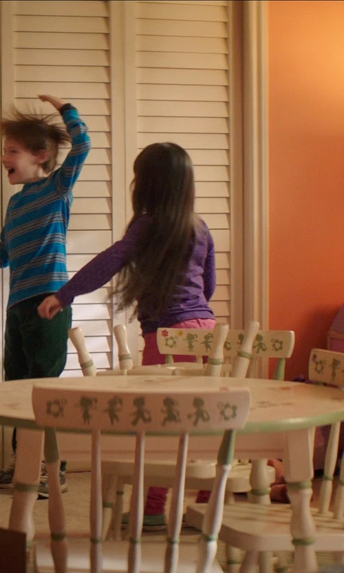 Kennedi Clements with Kid Kraft Nantucket Table & 4 Pastel Chair Set in Poltergeist