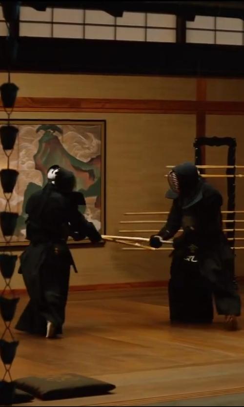 Hiroyuki Sanada with 24Seven Kendo Shinai Bamboo Practice Katana Set in The Wolverine
