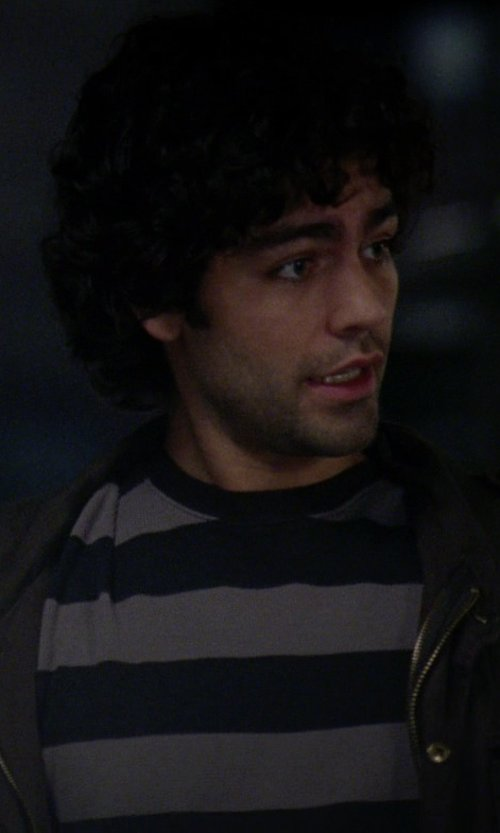 Adrian Grenier with U.S. Polo Assn. Men's Wide Striped T-Shirt in The Devil Wears Prada