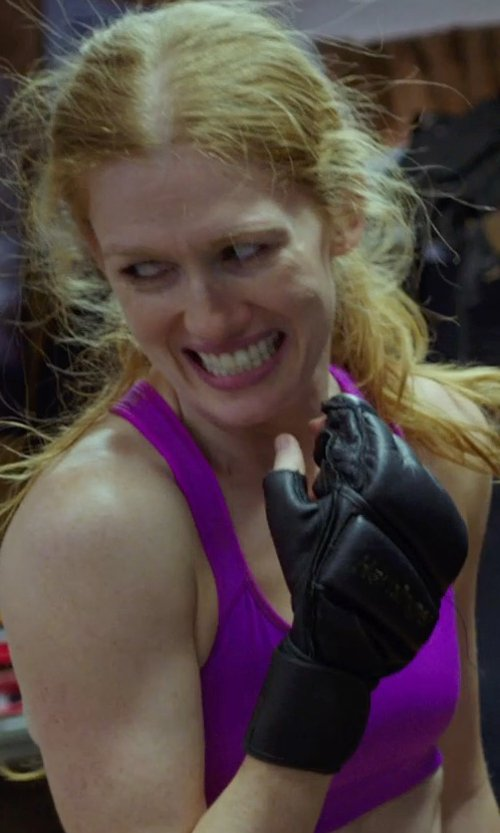Mireille Enos with Title Boxing Wristwrap Leather Heavy Bag Gloves in Sabotage