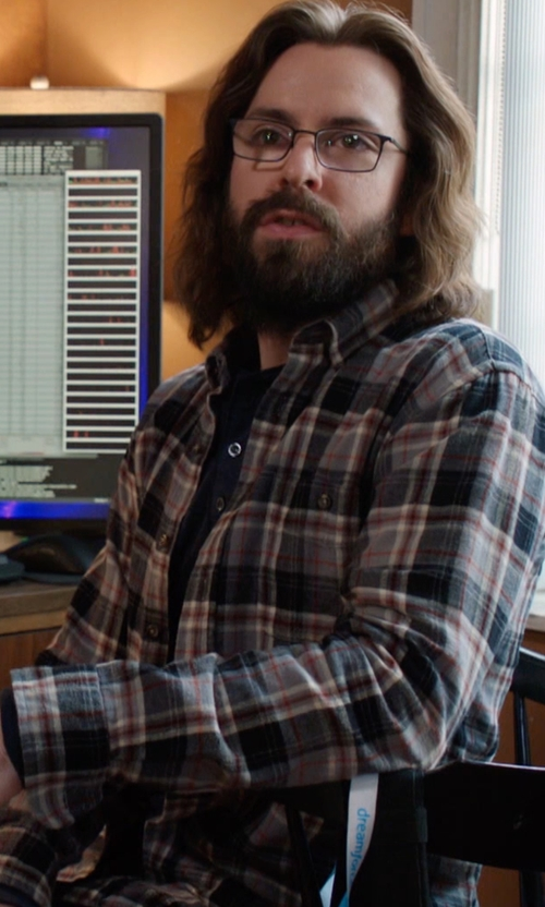 Martin Starr with Carhartt Men's Trumbull Plaid Shirt in Silicon Valley