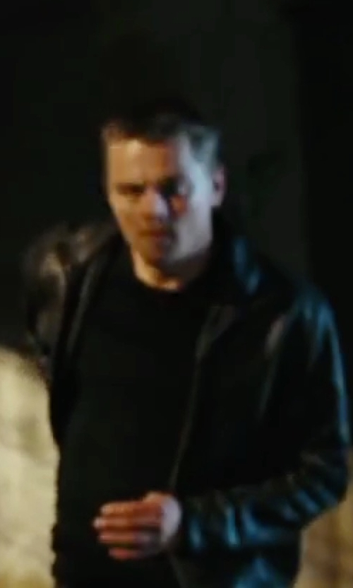 Leonardo DiCaprio with Calvin Klein Faux-Leather Moto Jacket in The Departed