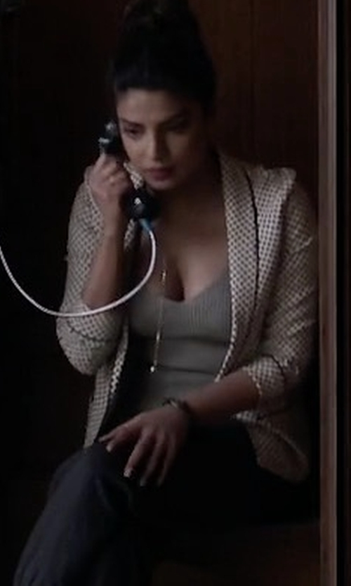 Priyanka Chopra with Nina Ricci Tweed Jacket in Quantico