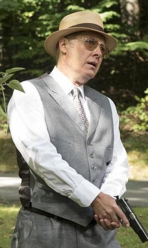 James Spader with Eleventy Tailored Waistcoat in The Blacklist