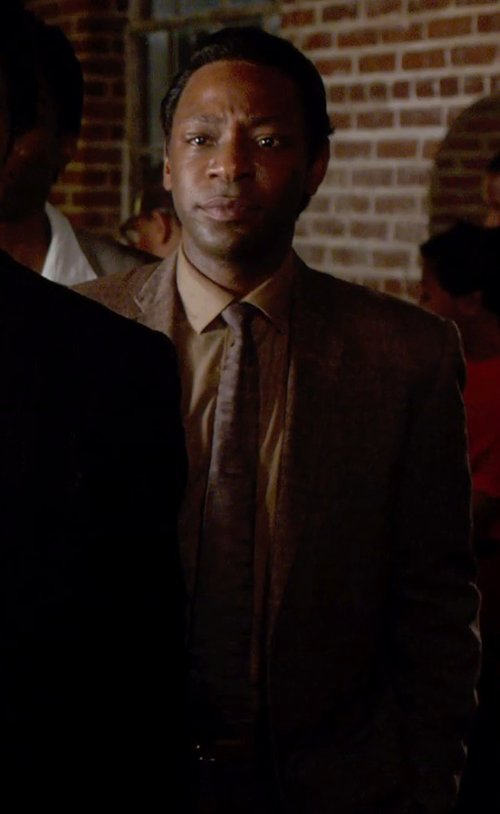 Nelsan Ellis with Topman Brown Twist Donegal Blazer in Get On Up