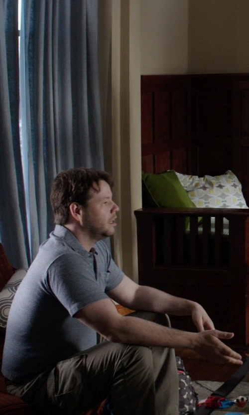 Ike Barinholtz with St. John's Bay Cargo Pants in Neighbors