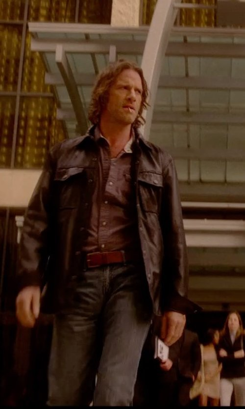 Thomas Jane with Harley Davidson Men's Sherpa Fleece-Lined Shirt in Vice