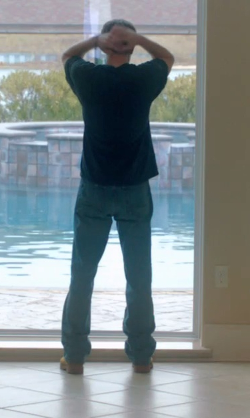 Andrew Garfield with Apology Denim Pants in 99 Homes