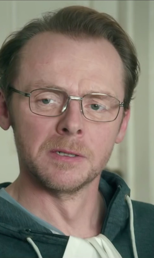 Simon Pegg with Versace Eyeglasses in Absolutely Anything