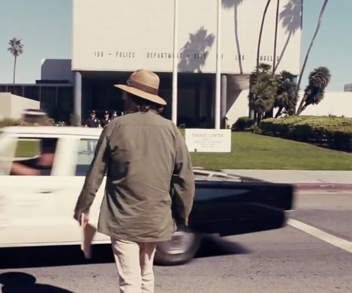 Unknown Actor with Parker Center Los Angeles, California in Inherent Vice