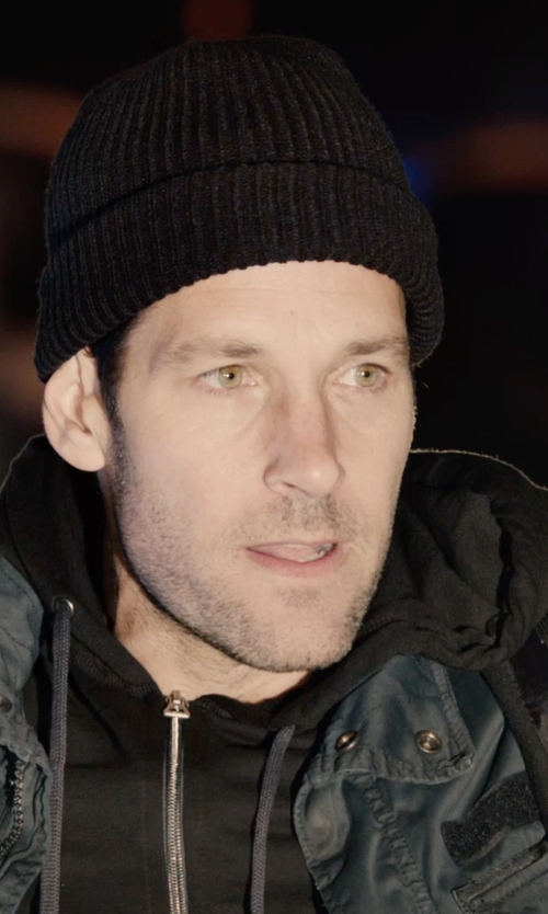 Paul Rudd with Polo Ralph Lauren Full Zip Hooded Fleece Jacket in Ant-Man
