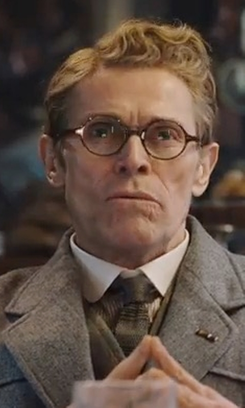Willem Dafoe with Oliver Peoples Gregory Peck Eyeglasses in Murder on the Orient Express
