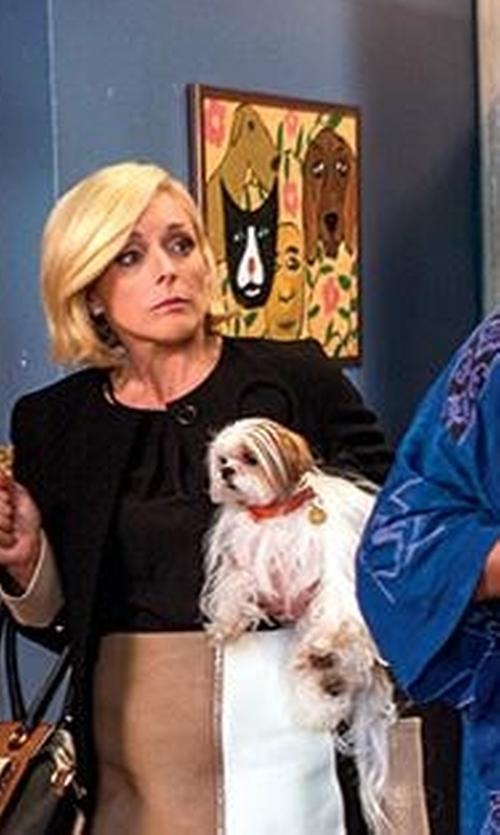 Jane Krakowski with Badgley Mischka  Willow Colorblock Leather Flap-Top Crossbody Bag in Unbreakable Kimmy Schmidt