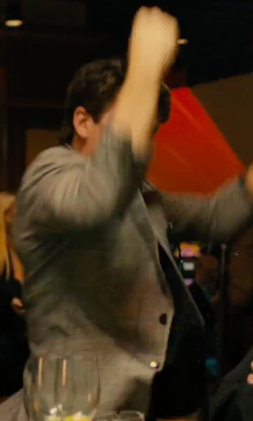 Miles Teller with Theory Wellar New Tailor Wool Blazer in Bleed for This
