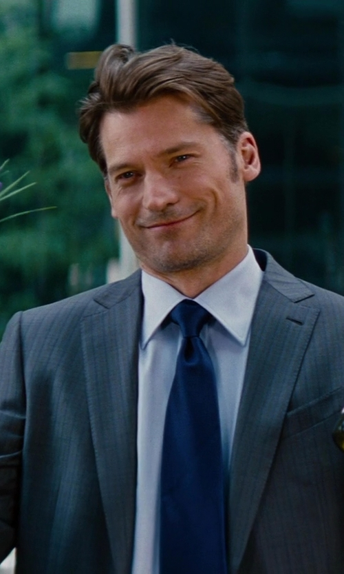 Nikolaj Coster-Waldau with Charvet	 Solid Poplin French-Cuff Shirt in The Other Woman