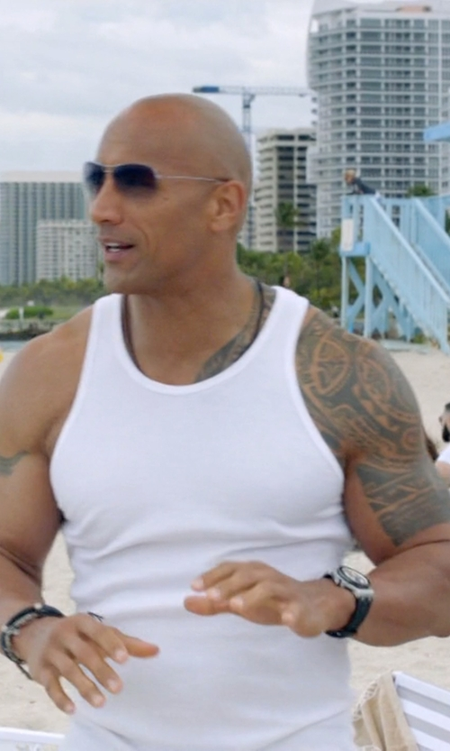 Dwayne Johnson with Tissot PRS516 Men's Watch in Ballers