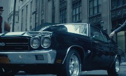 Keanu Reeves with Chevrolet 1970 Chevelle SS Car in John Wick